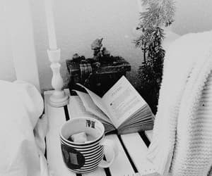 aesthetic, black and white, and book image