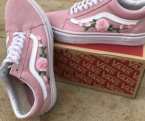 vans, pink, and sneakers image