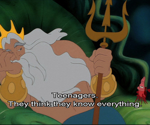little mermaid, quote, and teenagers image