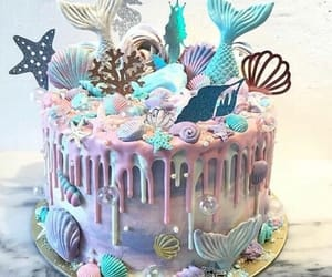 mermaid and cake image