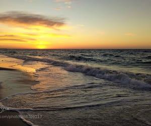 beach, coastline, and sand image