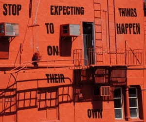 quotes, building, and orange image