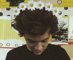 vintage, yellow, and Harry Styles image