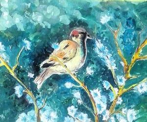 art, bird, and watercolors image