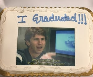 cake, funny, and graduation image