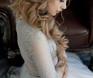 bridal gown, bride, and fashion image