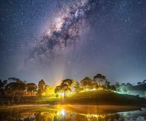 belleza, cielo, and estrellas image