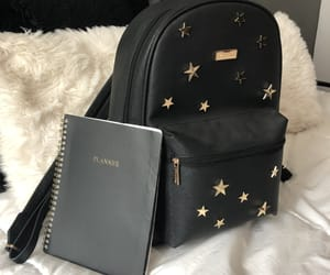 backpack, bag, and high school image