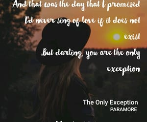 Lyrics, exception, and paramore image