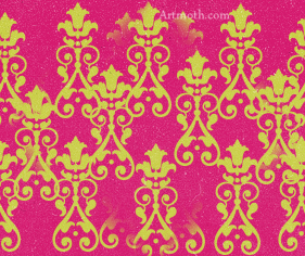 lime green, pink, and victorian image