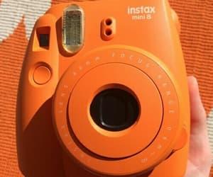 orange, polaroid, and aesthetic image