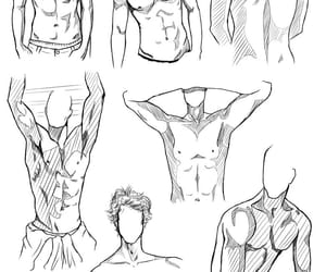drawing, male body, and dibujo image