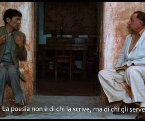 il postino, poetry, and movie image