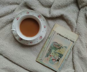 books, coffee, and novel image