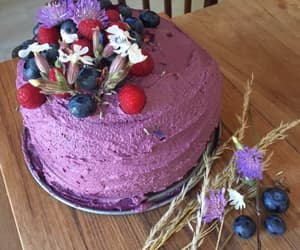 blueberries, purple, and wildflowers image