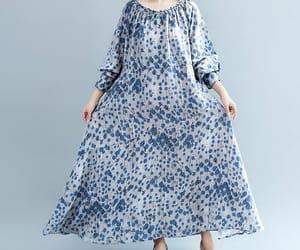 blue dress, evening dress, and prom dress image