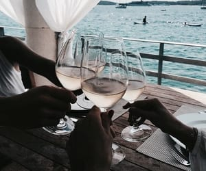 drink, summer, and wine image
