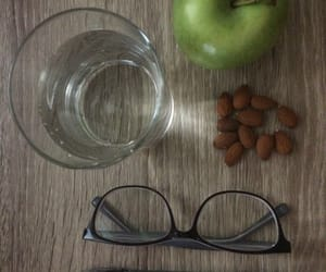 almond, glasses, and healthy snack image