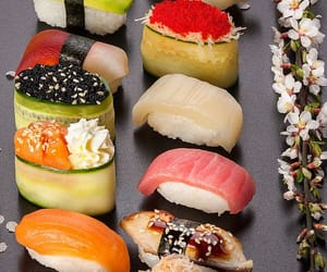 japan, sushi, and food image