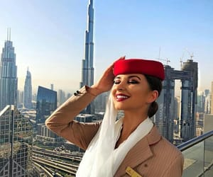 fashion and flight attendant image