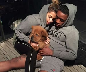 couple, love, and dog image