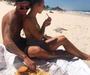 couple, beach, and boyfriend image