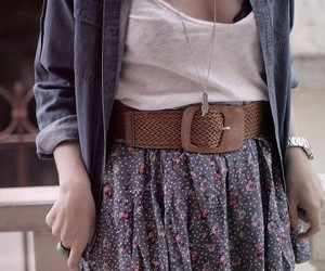 fashion, girl, and belt image