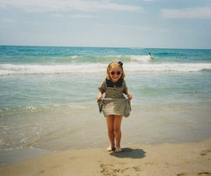 girl, child, and beach image