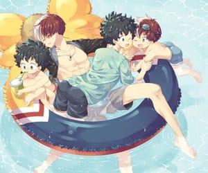 anime, todoroki shoto, and yaoi image