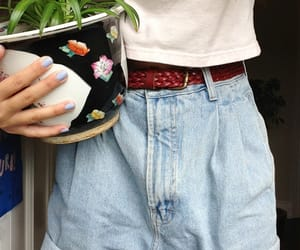plants, shorts, and summer image