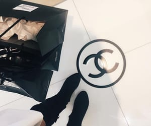 black, chanel, and girly image