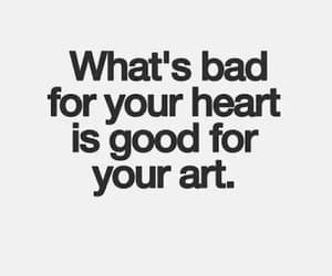 art, quotes, and heart image