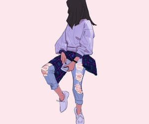 girl, art, and jeans image