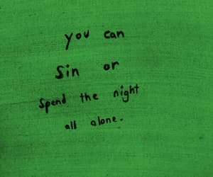 quotes, sin, and night image