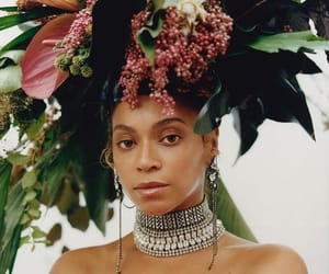 beyoncé, vogue, and flowers image
