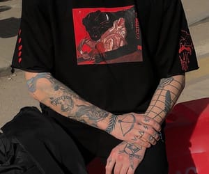 tattoo, black, and red image