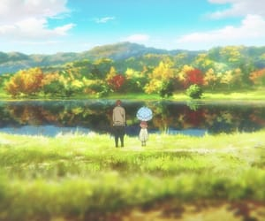 anime, lake, and pond image