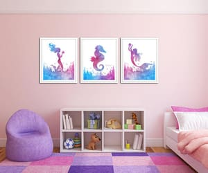 etsy, mermaid, and sea creatures image
