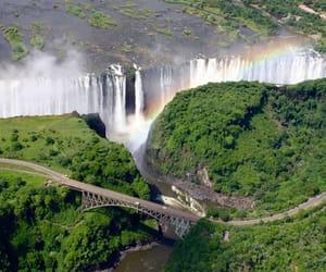 travel, waterfall, and zimbabwe image