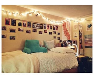 boston, college, and string lights image