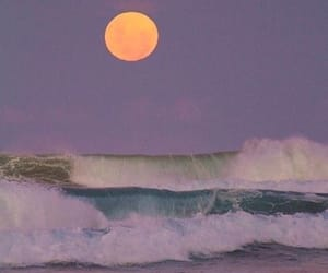 aesthetic, moon, and ocean image