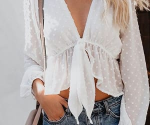 fashion, outfit, and blouse image