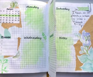 green, planner, and bullet journal image