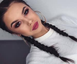 braids, brunette, and fashion image