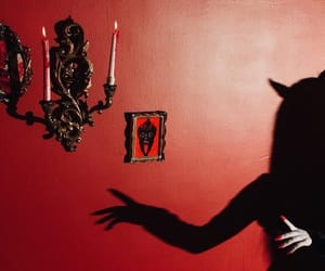 red, aesthetic, and Devil image