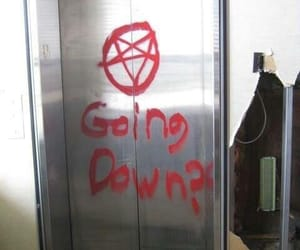 hell, satan, and elevator image