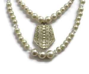 crystal jewelry, etsy, and pearl necklace image