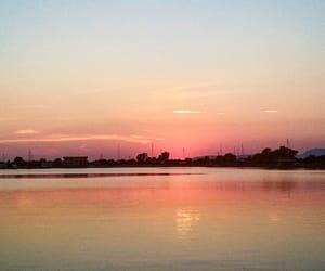 beautiful, sunset, and board image