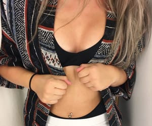blonde, fashion, and piercing image