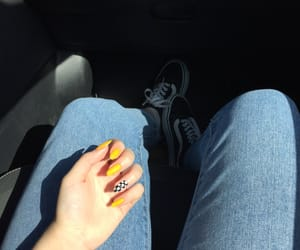 jeans, nails, and summer image